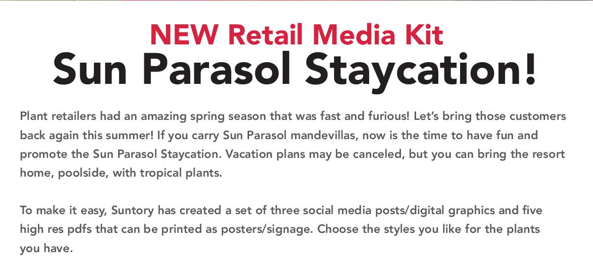 NEW Retail Media Kit – Sun Parasol Staycation