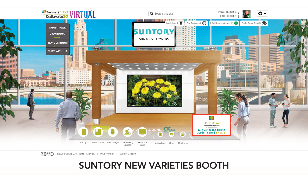 Suntory New Varieties Booth
