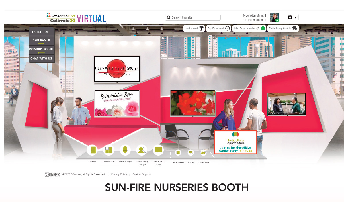 Sun-Fire Nurseries Booth